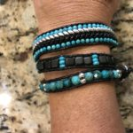 turquoise, onyx, silver, leather