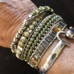 4 wrap leather and moss agate